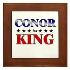 CONOR for king Framed Tile