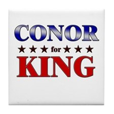 CONOR for king Tile Coaster