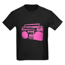 Retro boobbox hot pink T