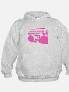 Retro boobbox hot pink Hoodie