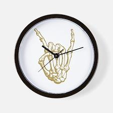Rock in Bone Wall Clock