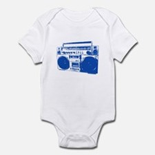 Retro boobbox blue Infant Bodysuit