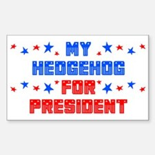 Hedgehog PRESIDENT Rectangle Decal