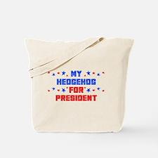 Hedgehog PRESIDENT Tote Bag
