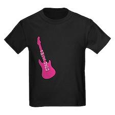 Let's rock pink guitar T
