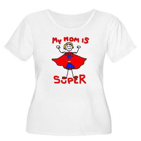 Super Mom Women's Plus Size Scoop Neck T-Shirt