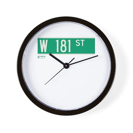 181st Street in NY Wall Clock