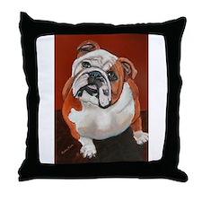 Bertha a Bulldog Throw Pillow