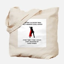 Superheroine Social Worker Tote Bag