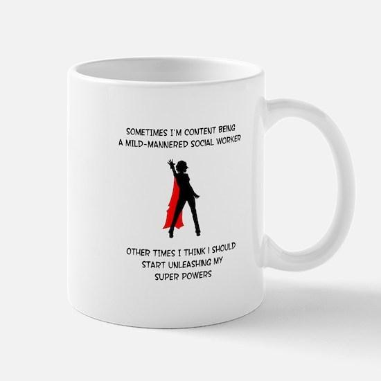 Superheroine Social Worker Mug