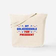 Goldendoodle PRESIDENT Tote Bag