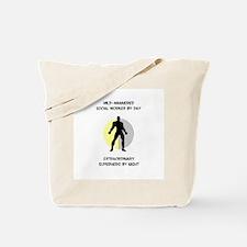 Social Working Superhero Tote Bag