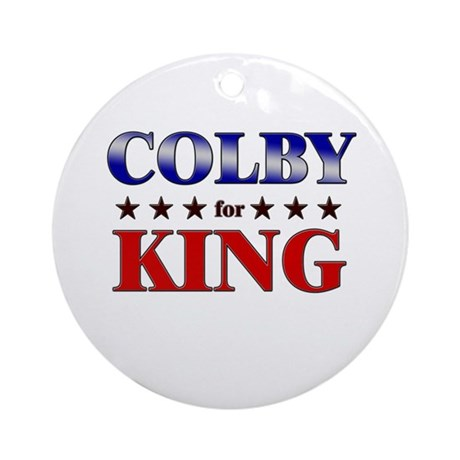 COLBY for king Ornament (Round)