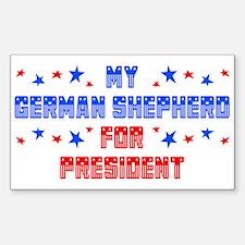 German Shepherd PRESIDENT Rectangle Decal