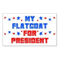 Flatcoat PRESIDENT Rectangle Decal