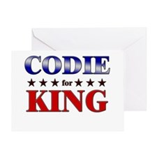 CODIE for king Greeting Card