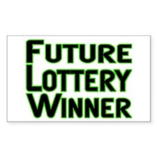 Future Lottery Winner Rectangle Decal