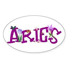 Aries Flowers Decal