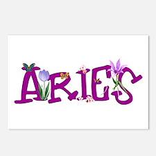 Aries Flowers Postcards (Package of 8)