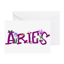 Aries Flowers Greeting Card