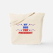 Dog PRESIDENT Tote Bag