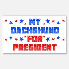 Dachshund PRESIDENT Rectangle Decal