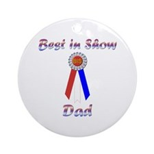 Best in Show Dad Ornament (Round)