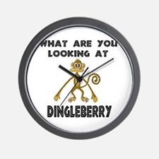 """""""What Are You Looking At Dingleberry?"""" Wall Clock"""