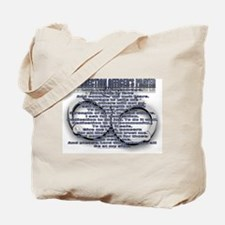 CORRECTION'S OFFICER PRAYER Tote Bag