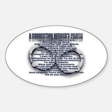 CORRECTION'S OFFICER PRAYER Oval Decal