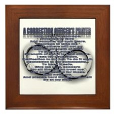 CORRECTION'S OFFICER PRAYER Framed Tile