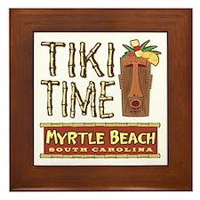 Myrtle Beach Tiki Time - Framed Tile