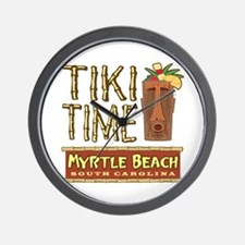 Myrtle Beach Tiki Time - Wall Clock