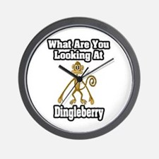 """""""What Are You Looking At Dingleberry? Wall Clock"""