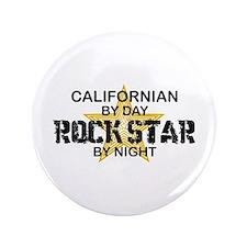 """Californian Rock Star 3.5"""" Button"""