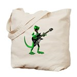 Electric Guitar Gecko Tote Bag