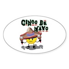 Cinco de Mayo Smiley Oval Decal