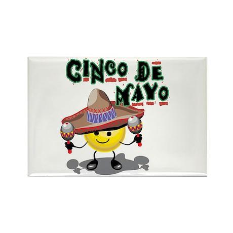 Cinco de Mayo Smiley Rectangle Magnet (10 pack)