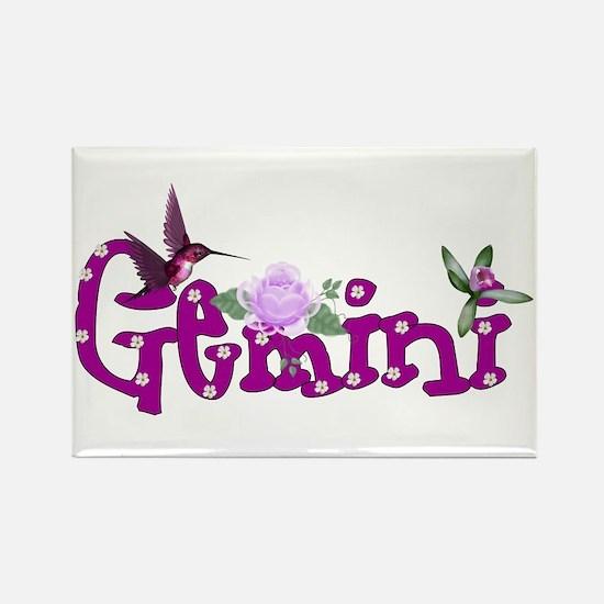 Gemini Flowers Rectangle Magnet