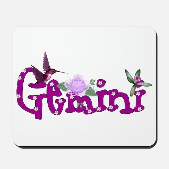 Gemini Flowers Mousepad