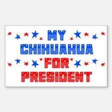 Chihuahua PRESIDENT Rectangle Decal