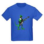 Electric Guitar Gecko Kids Dark T-Shirt