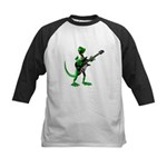 Electric Guitar Gecko Kids Baseball Jersey