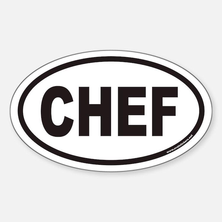 CHEF Euro Oval Stickers