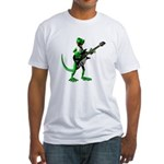 Electric Guitar Gecko Fitted T-Shirt