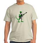 Electric Guitar Gecko Light T-Shirt