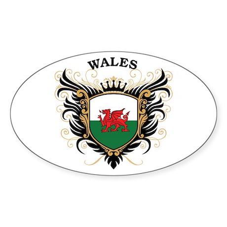 Wales Sticker (Oval)