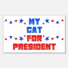 Cat PRESIDENT Rectangle Decal