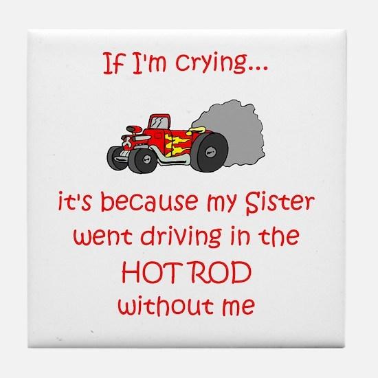 Hot Rod Cry - Sister Tile Coaster