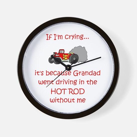 Hot Rod Cry - Grandad Wall Clock